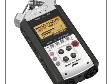 Audio recorder and field kit, Sennheiser 416/418, Zoom H4n