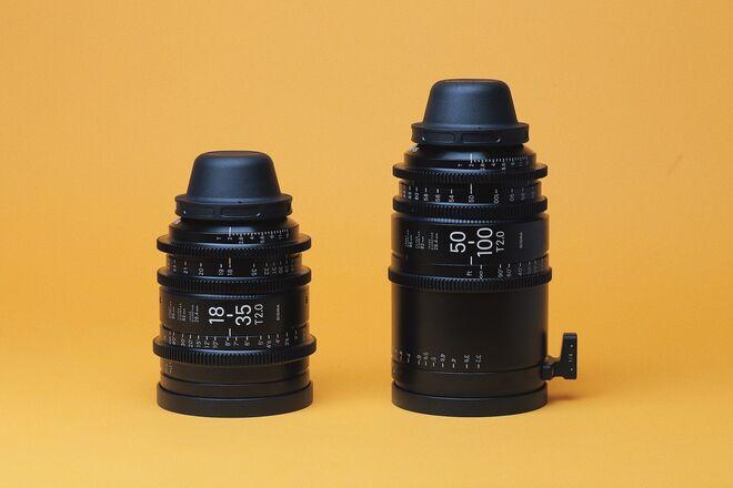 Sigma Cine Zoom 18-35mm T2 + 50-100mm T2 Zooms PL or EF
