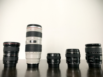 Rent: Canon Prime & Zoom Lens Package