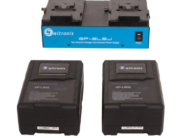 2 Switronix V-mount Batteries with Charger