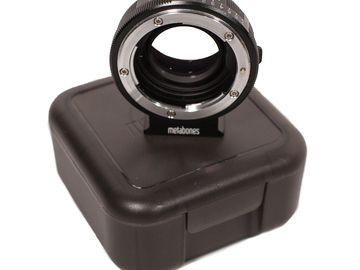 Rent: Metabones SPEED BOOSTER Nikon F mount - SONY E mount Adapter