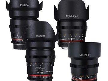 Rent: Rokinon Cine DS T1.5 Prime EF Lens Set (24, 35, 50, 85mm)