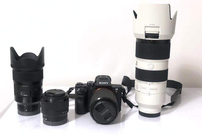 Sony Alpha a7R II Mirrorless Digital Camera Pack (4 Lens)