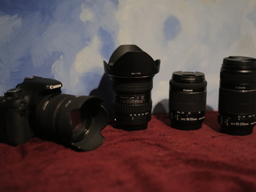 Rent: Low Budget Camera Bundle: CANON Rebel T3i + 4 LENSES, 3 batt
