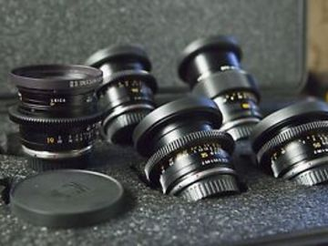 Rent: Set of 3 Leica R EF mount lenses cine-modded by Duclos Lense