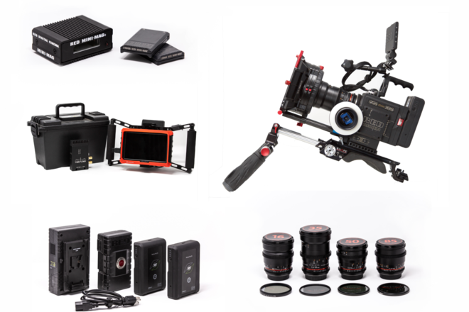 RED Raven Dragon 4.5K Package + Lenses + Wireless Monitor