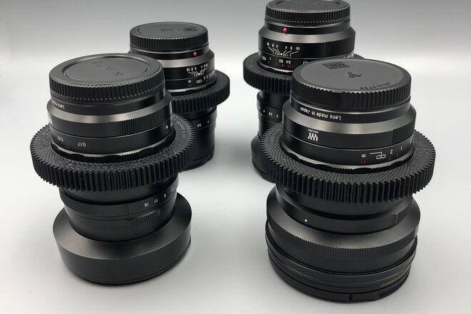 Voigtlander Nokton f/0.95 CINE MOD 4 Lens Set for MFT!