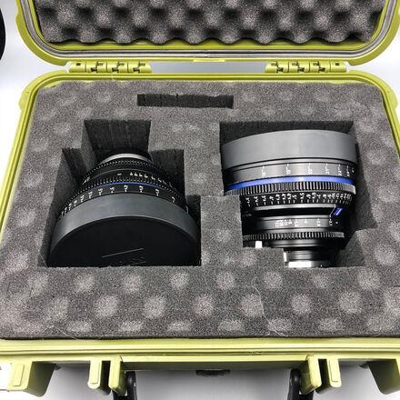 Any (2) Zeiss CP2 Lens, EF or SONY E- MOUNT W/ MATT BOX