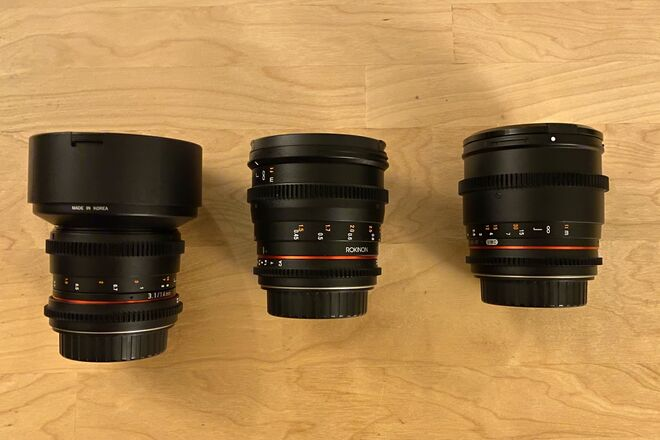 Rokinon Cine DS Set - 3 Lenses (Full Frame)