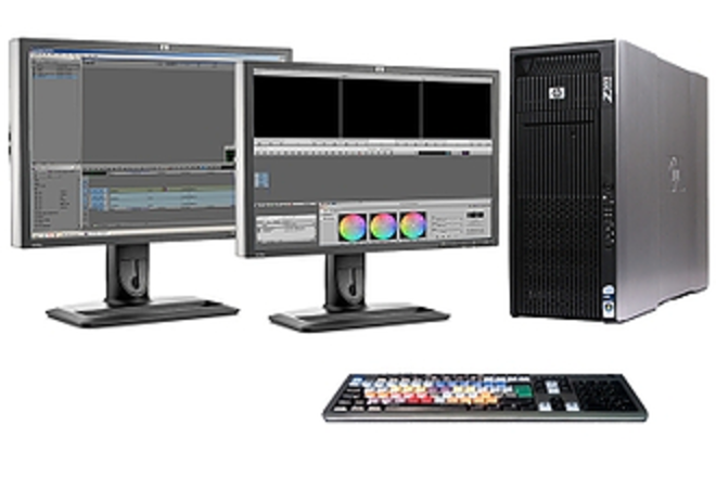 HP Z800 Workstation AVID, Drobo storage and two monitors
