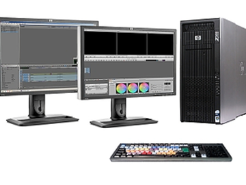 Rent: HP Z800 Workstation AVID, Drobo storage and two monitors