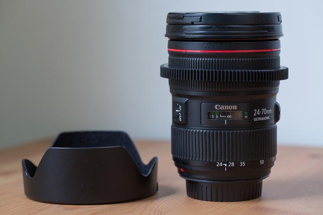 Canon 24-70mm 2.8L II Lens (geared)