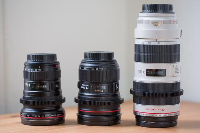 Canon 3 Zoom Lens Set (16-35 II, 24-70 II, and 70-200 II)