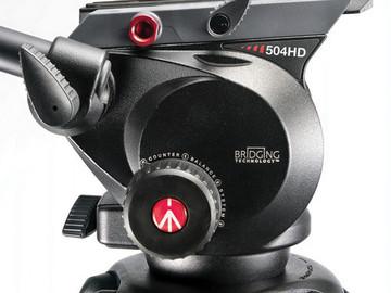 Rent: Manfrotto 504HD Head w/546B 2-Stage Aluminum Tripod System