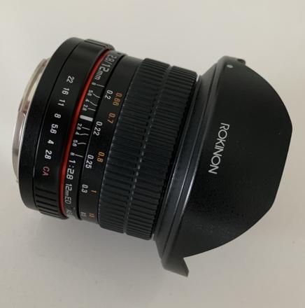 Rokinon 12mm F2.8 Ultra Wide Fisheye Lens for Canon