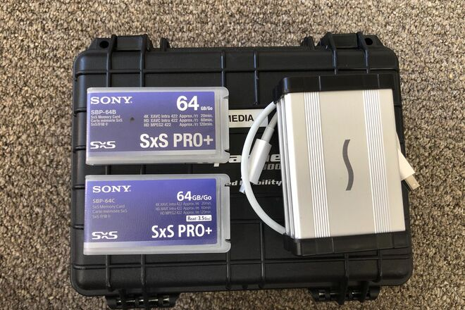 Sony 64GB SxS Pro+ (x2) and card reader