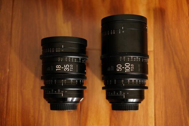 Sigma Cine 18-35mm T2 & 50-100mm T2 Set Canon EF Mount