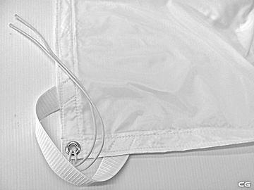 Rent: 20x20 White Poly Silk