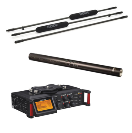Audio Package (NTG4+ Microphone, Boompole, Recorder, Accs.)