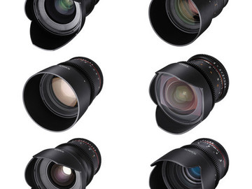 Rent: Rokinon / Tokina Cine Lens Set: 11-16, 24,35,50,85 and 135