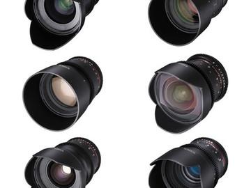 Rent: Rokinon / Tokina Cine Lens Set: 11-16, 24,35,50,85 and 135