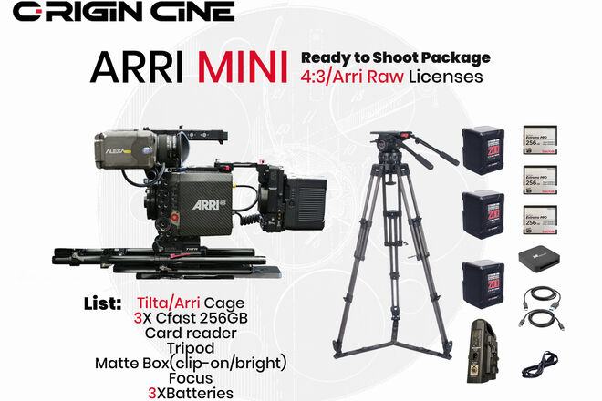 (20% Off)Arri Alexa Mini ArriRaw/ 4:3 Ready-to-Shoot Package