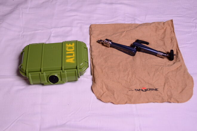 Bright Tangerine Titan Arm with Hard Case