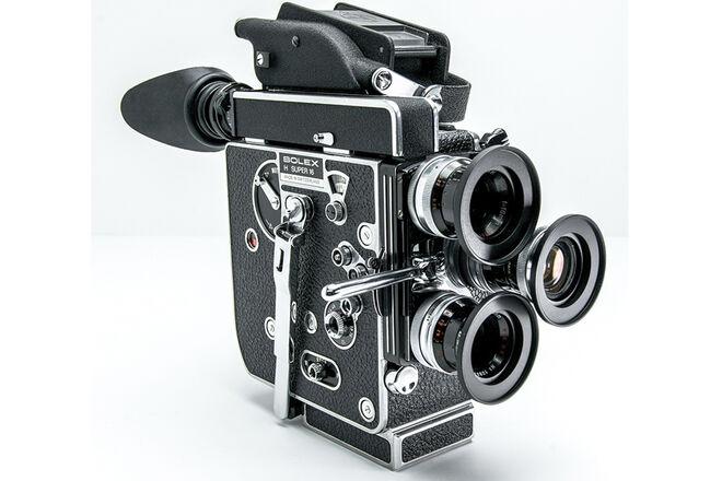 Bolex H16 Reflex SUPER 16mm Film Camera w/ Switar Primes