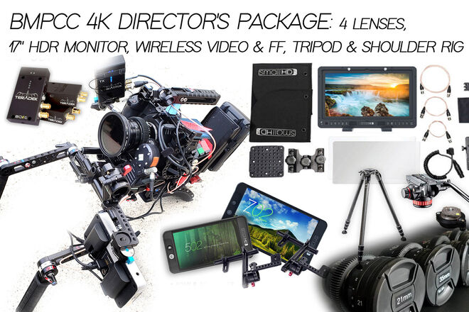 "BMPCC 4K Director Package (4 Lenses, 17"" Wireless HDR & FF)"