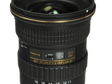 Rent: Tokina 11-16mm f/2.8 Lens for Canon EF
