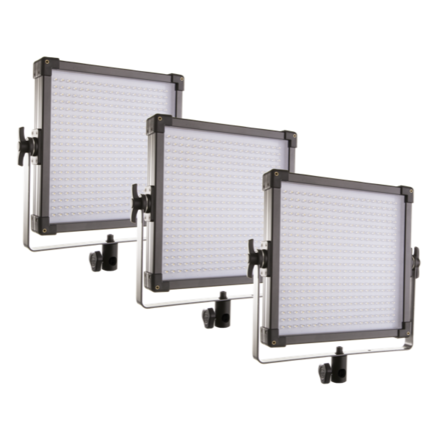 Set of 3 Bi-color 1x1 LED panels.  (F&V)
