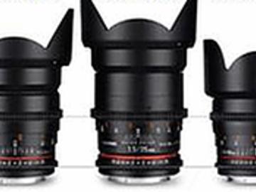 Rent: 5 lens set 16,24,35,50,85