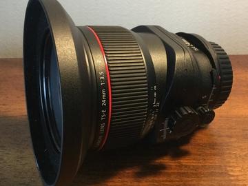 Rent: Canon TS E Tilt‑Shift Lens for Canon EF ‑ 24mm ‑ F/3.5