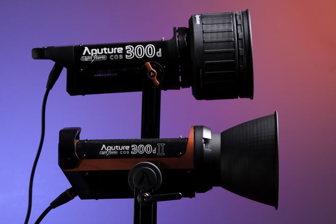 Three (3) Aputure LS 300D Lights & Accessories Package