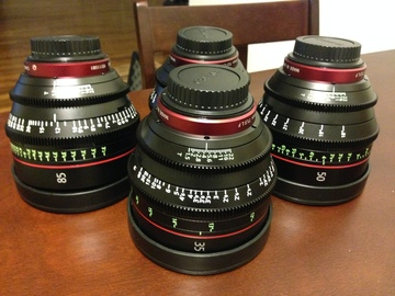 Rent: Canon Cinema Prime lenses Package 3