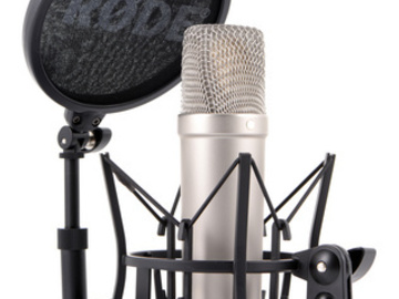 Rent: Voice-Over Microphone (Rode NT1-A Large Diaphragm Condenser)