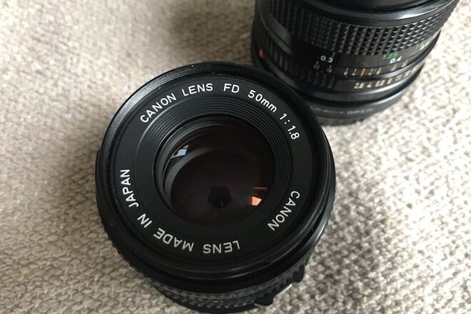 Vintage Canon FD lens set (24mm f2.8 & Canon FD 50mm f1.8)