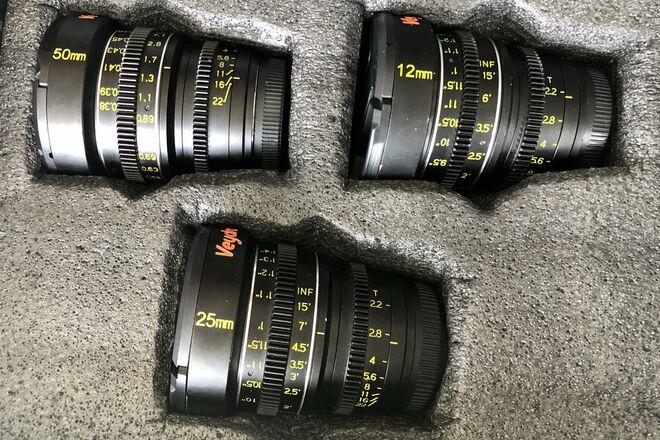 Veydra Mini Prime Lens Set 50mm, 25mm, 12mm