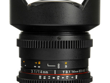 Rent: Rokinon 14mm T3.1 Cine ED AS IF UMC EF Lens
