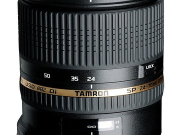 Rent: Tamron 24-70 SP f/2.8 with Image Stablization EF (Canon)