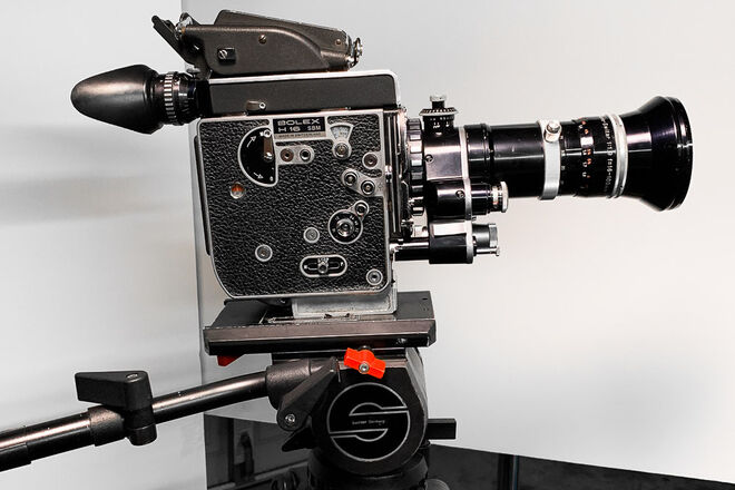 Bolex 16mm Film Camera with power Zoom lens 16-100 (1.9)