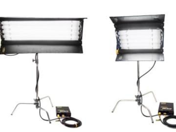 Rent: Kino & c- stand package : (x2) 4x4 kinos & (x1) 2x4 kino