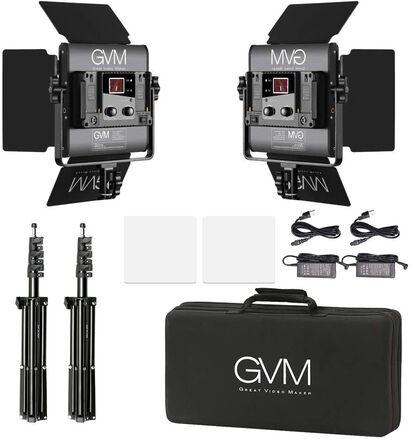 GVM Led Video Light 2 kit with APP Phone Control; 40W Adjust