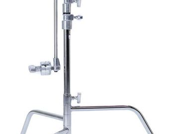 Rent: (2) Matthews 20 inch C-Stands w/ Arms & Grip Heads