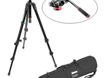 Rent: Manfrotto 502HD Flat Base Head with 755XB MDeVe Tripod