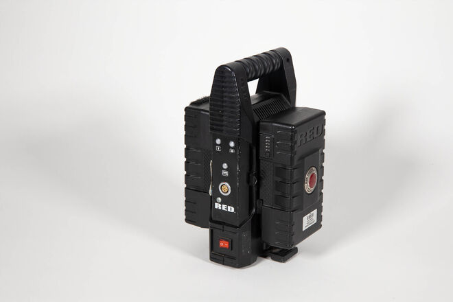 TWO 150w RED Brick v-mount batteries with Charger