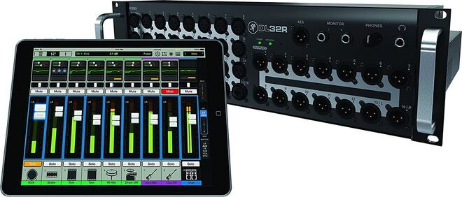 Mackie DL32 Audio Mixer package with router, iPad, etc.
