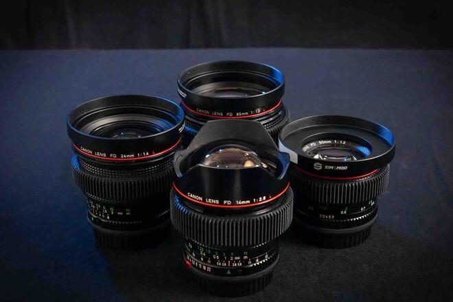 "Vintage Canon FD Cinema Lenses Set (EF): Original ""L"" Series"