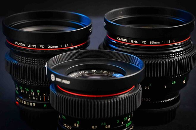 "Canon FD Vintage Cinema Lens Set (EF): Super-Speed ""Trinity"""