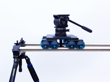 Rent: Dana Dolly with stands, rails and Manfrotto 501 head